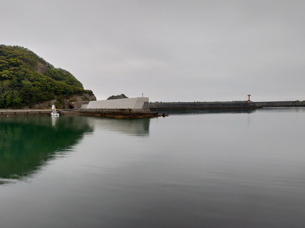 有田漁港エギング 船の通り道