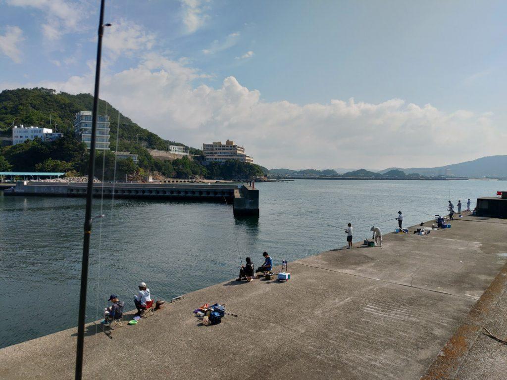 田ノ浦漁港 堤防内側