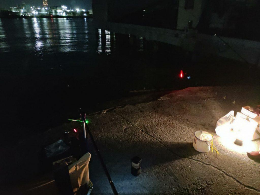 2019-08-26食コン 深夜のタチウオ釣り